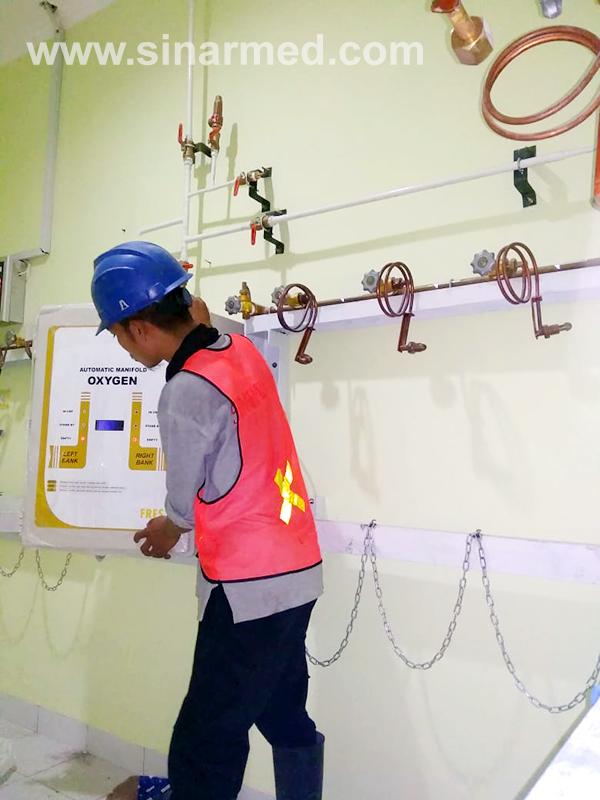 pemasangan Instalasi gas medis room