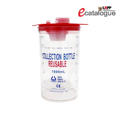 PAHSCO REUSABLE COLLECTION BOTTLE 1800 ML + PLASTIC HANGER